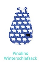 Pinolino Schlafsack Happy Sheep Winter blau