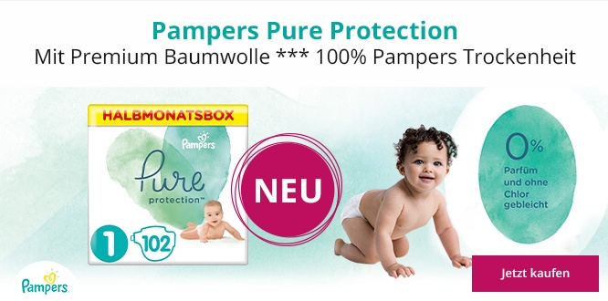 NEU - Pampers Pure Protection Windeln