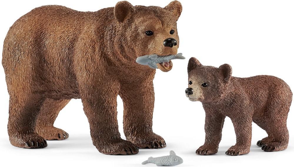 Schleich Grizzlybär-Mutter mit Jungem   Schleich - Jetzt online kaufen