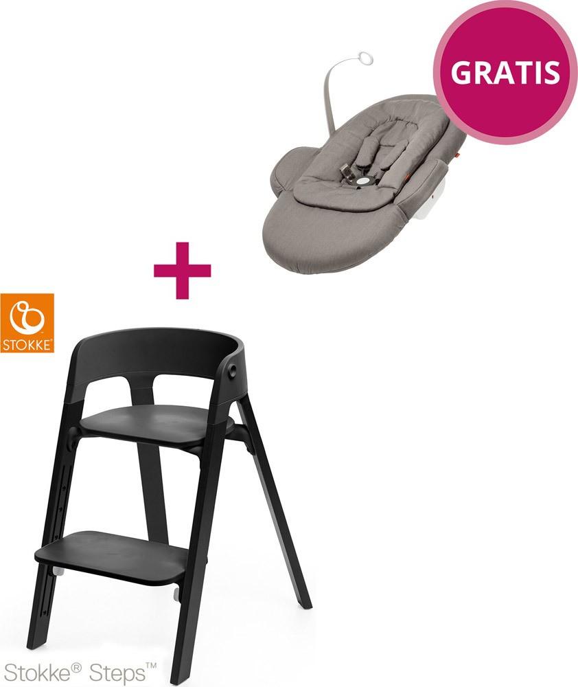 stokke steps stuhl inkl gratis newborn set treppenhochstuhl jetzt online kaufen. Black Bedroom Furniture Sets. Home Design Ideas