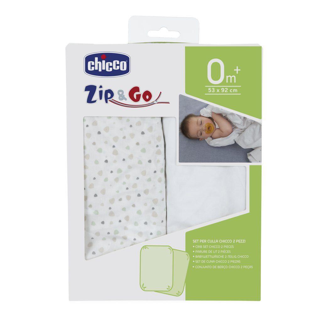 chicco spannbettlaken set f r reisebettchen zip go spannbettlaken babybett jetzt online. Black Bedroom Furniture Sets. Home Design Ideas
