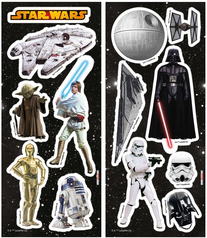 komar deco sticker star wars wandtattoo kinderzimmer jetzt online kaufen. Black Bedroom Furniture Sets. Home Design Ideas