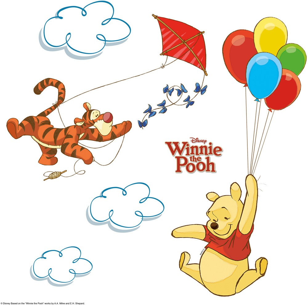Komar Fenster Sticker Winnie Pooh Wandtattoo Kinderzimmer