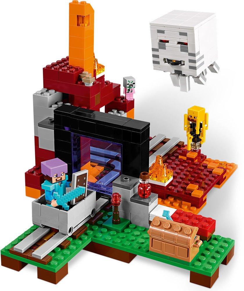 lego minecraft netherportal lego jetzt online kaufen. Black Bedroom Furniture Sets. Home Design Ideas
