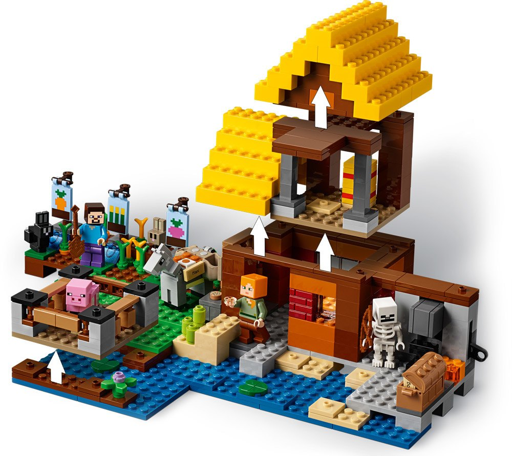 lego minecraft farmh uschen lego jetzt online kaufen. Black Bedroom Furniture Sets. Home Design Ideas