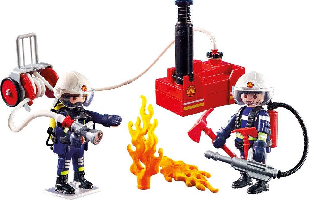 PLAYMOBIL® Christmas - 9468 - Feuerwehrmänner mit Löschpumpe   Spielsets - Jetzt online kaufen