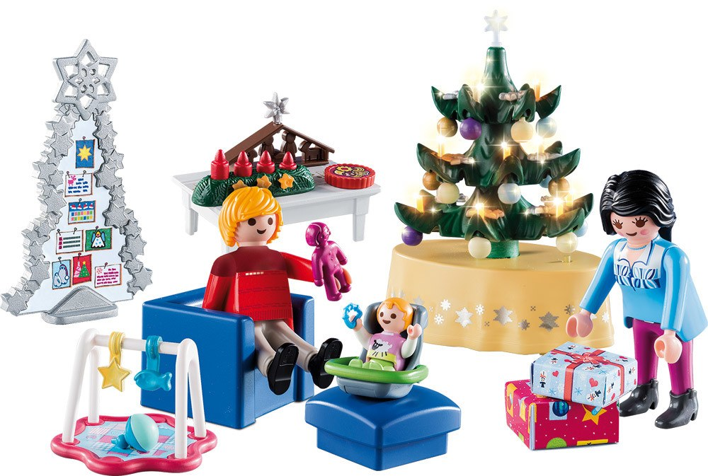 Playmobil Weihnachtsbaum.Playmobil Christmas 9495 Weihnachtliches Wohnzimmer Spielsets Jetzt Online Kaufen Windeln De