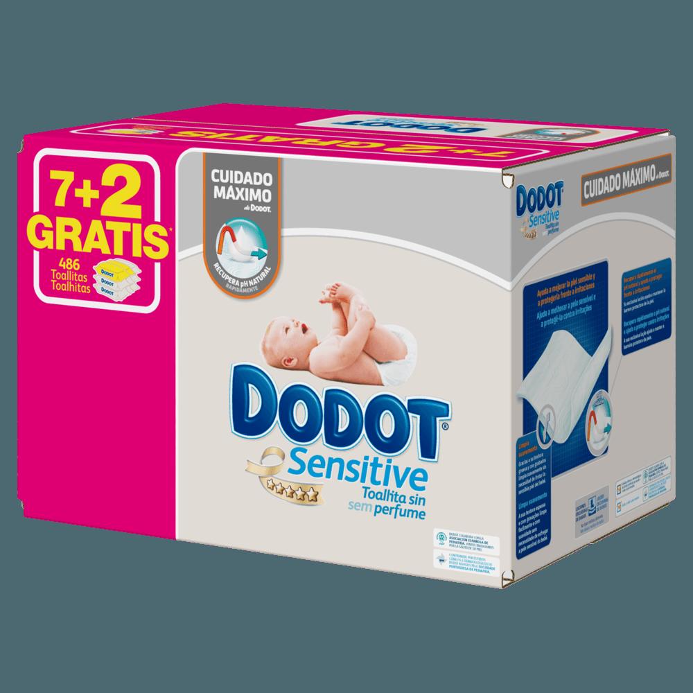 41706520c Toallitas Dodot Sensitive 486 uds - Toallitas
