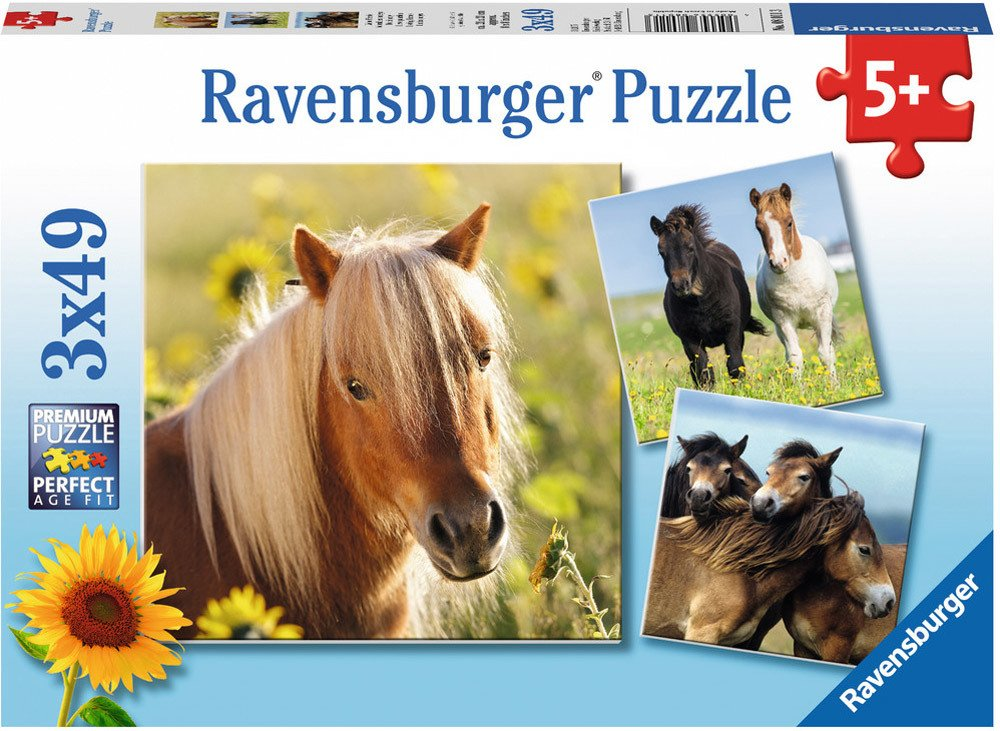 ravensburger 3 x 49 teile liebe pferde jetzt online. Black Bedroom Furniture Sets. Home Design Ideas