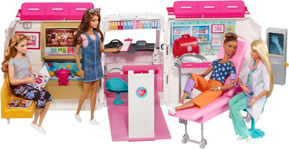 Barbie 2-in-1 Krankenwagen Spielset » Barbiezubehör - Jetzt online kaufen |  windeln.de
