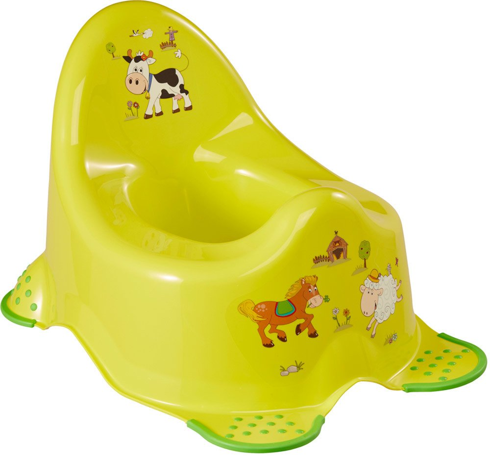 Keeeper adam funny farm babytopf mit anti rutsch for Kinderbett mit funktion