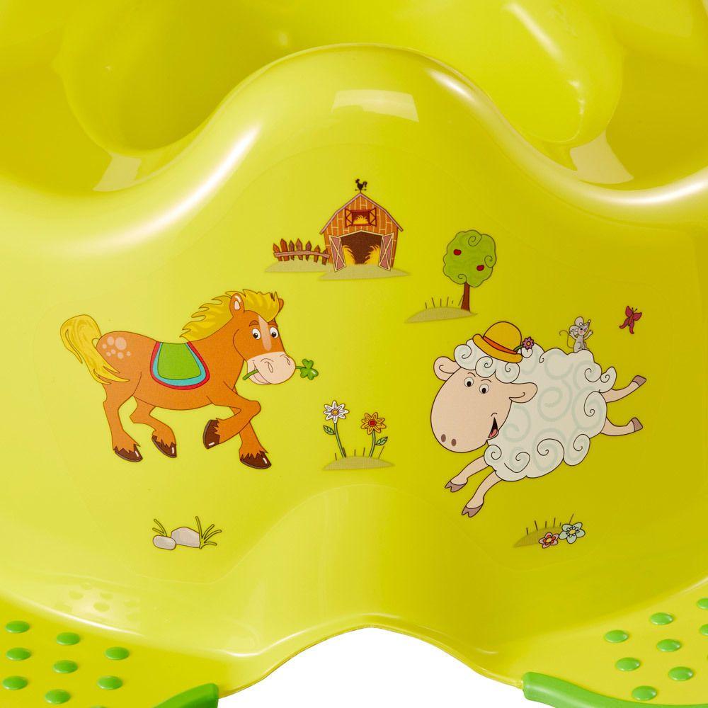 Keeeper babytopf mit anti rutsch funktion funny farm for Kinderbett mit funktion