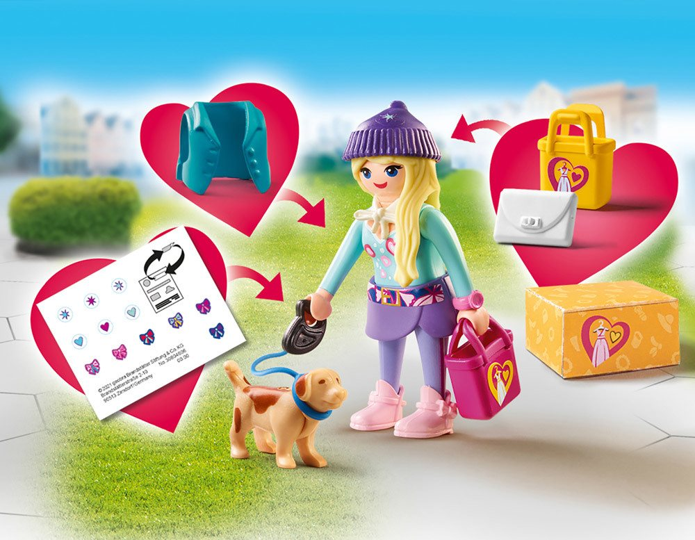playmobil® city life fashion girl mit hund » playmobil