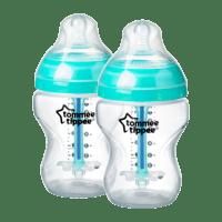 NUOBESTY Biber/ón de Vidrio Antic/ólicos Pezones de Silicona Biberones para Ni/ños Peque/ños Biberones para Beb/és Y Reci/én Nacidos Azul